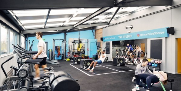 The Love2Live gym and fitness studio in Shrewsbury.