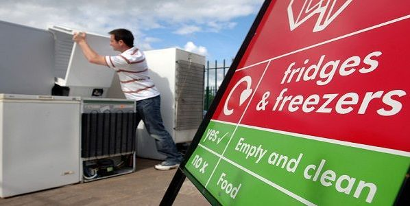 Mark parkinson recycling fridge