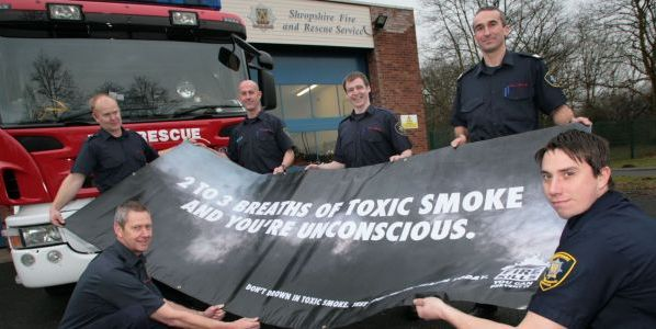 smoke warning from Shropshire firefighters