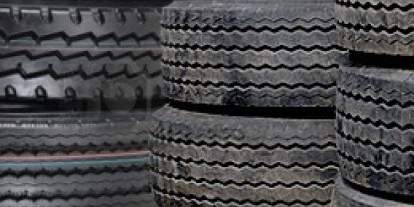 tyre casings stacked