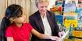 Coram Beanstalk reader helper with child