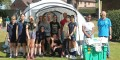 Students erected an international emergency shelter supplied by Oswestry Cambrian Rotary Club