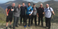 Richard Lent and Tom Williams of Pensionlite with fellow climbers on a recent assent of Snowdon