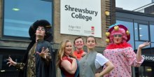 Shrewsbury College students prepare for this year's panto - Aladdin
