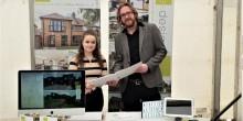Caitlin Morgan with Ke-design director Craig Marston.