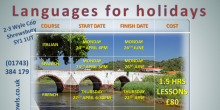 Languages for Holidays workshops with Bright Owls in Shrewsbury