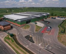 Battlefield Household Recycling Centre (aerial photo)