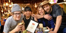 The Birds Nest Cafe celebrating its award