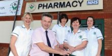 The team at The Pharmacy @ Caxton in Oswestry are celebrating launching a new app