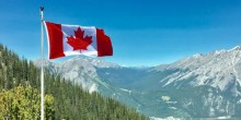 A picture of Canada featuring the Canadian flag