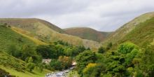 carding mill valley view of green shropshire hills