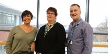 Care and support director Les Clarke is pictured with domiciliary care manager Angie Mason (left) and Dawn Longmore (centre) who manages the team which has transferred from HomeLife to Care Plus.
