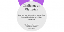 See if you can row faster than Olympic Rower Debbie Flood