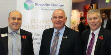 Experts warn Shropshire economy could be growing quicker. L to R: Neil Crook, Richard Sheehan and Adrian Burton