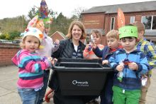 Children recycling Easter Egg Foil
