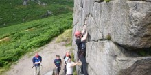 Climbing on an outdoor programme