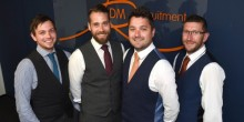 From left, Edward Danks, of the Welshpool office, Nick Lewis, of the Shrewsbury office, managing director Stuart Danks and Patrick O'Grady of the Stafford office of DM Recruitment.