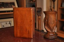 Book shaped trinket box, Cup and Walking Stick from Pitcairn
