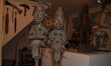 Ogboni Yoruba sculptures at Wyle Cop Shrewsbury
