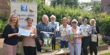 CJ Wildlife presenting donations cheque to Shropshire Wildlife Trust