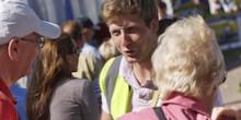 Volunteers meeting visitors at Shrewsbury Flower Show.