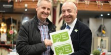 Clive Knowles, Chairman of the British Ironwork Centre & Chris Worman, Green Flag Judge