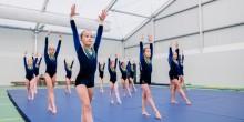 Championship medal-winning gymnasts at Adcote School