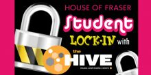 Student lock-in event at House of Fraser in Shrewsbury
