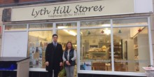 Huw Bevan from Halls Commercial and Jane Memory from Lyth Hill Stores are working together to find a new owner