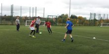 Autonomy football at Wilfred Owen School