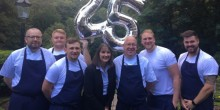 Head chef Barry Workman celebrates 25 years service at the Best Western Valley Hotel in Ironbridge.