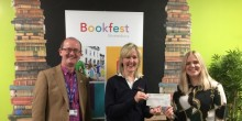 Paul Kirkbright - University Centre Shrewsbury, Ali McGowan - Shrewsbury Bookfest, Claire Rogers - The Wynn Foundation
