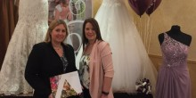 Caption (L-R): Lisa Snape from the Best Western Valley Hotel in Ironbridge with Sam Ellam from K T Bridal preparing for the wedding open day.