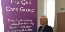 Jacqui Houlston, new manager of Quil Care Group, Shrewsbury