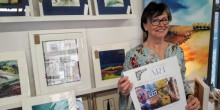Jan Park, Vice Chair of the Secret Severn Art Trail, in her studio.