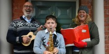 Katy Rink and her family get ready for carols on their doorstep