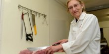 Kay Badley, of G. N. Badley & Sons butchers, has vowed to help British farmers in their fight for lamb prices