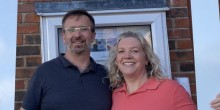 Owners Kevin and Suzie Guerin outside Shropshire Floats