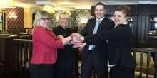 Staff from The Buckatree Hall Hotel and Telford College of Arts and Technology celebrate new partnership
