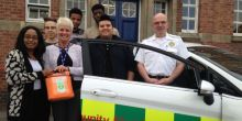 Students and staff at Adams House in Wem welcome life saving equipment
