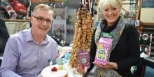 Tudor Humphreys- Macmillan Partnership Manager  & Tracy Knowles - British Ironwork Centre