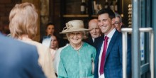 Marcus with HRH Princess Alexandra, when she officially opened The Furnace Kitchen on Friday 19th July.