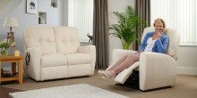 Woman relaxing on a Middletons rise and recline chair