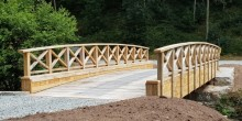 Morris Joinery bridge made from European green oak