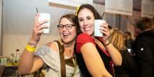 Festival goers enjoying the drinks at Shropshire Oktoberfest
