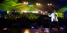 Singer performs on Shropshire Oktoberfest stage