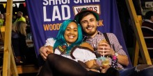 Couple enjoying last year's Shropshire Oktoberfest