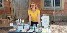 A stall at the Oteley Estate market