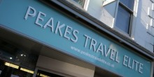 The Peakes Travel Elite sign on Mardol