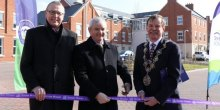 Paul Smith, Chair Severnside Housing, with David Orr, Chief Executive National Housing Federation, and Shrewsbury Mayor, Miles Kenny